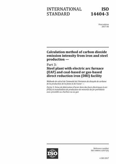 ISO 14404-3:2017 - Calculation method of carbon dioxide emission