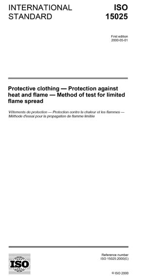 ISO 15025:2000 - Protective clothing — Protection against heat and flame  — Method of test for limited flame spread