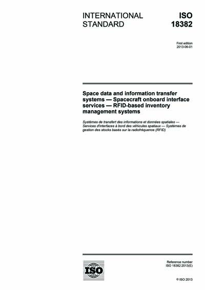 ISO 18382:2013 - Space data and information transfer systems