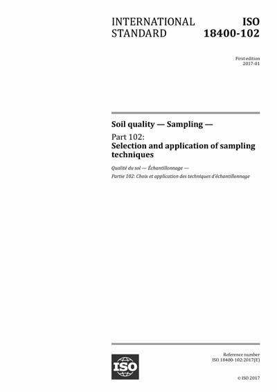 ISO 18400-102:2017 - Soil quality - Sampling - Part 102