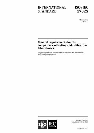 iso iec 17025 2017 general requirements for the competence of