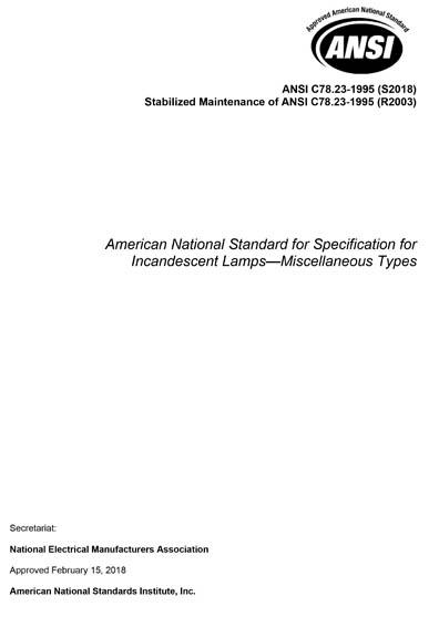 ANSI C78 23-1995 (S2018)