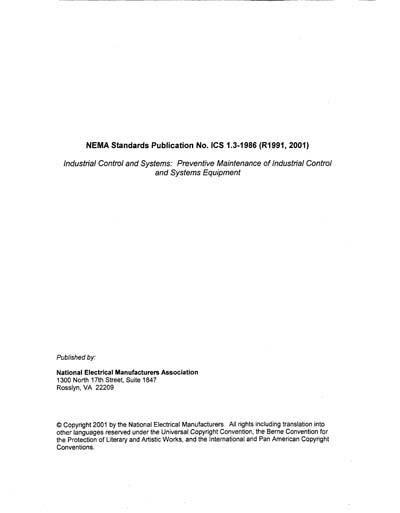 NEMA ICS 1 3:1986 (R2001)