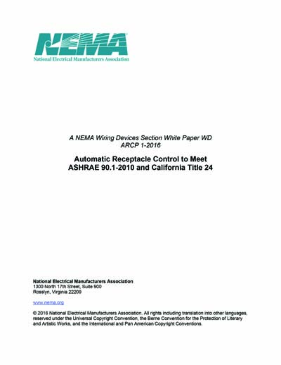 NEMA WD ARCP 1 2016 A NEMA Wiring Devices Section White