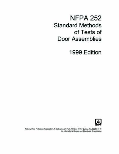 NFPA 252 1999