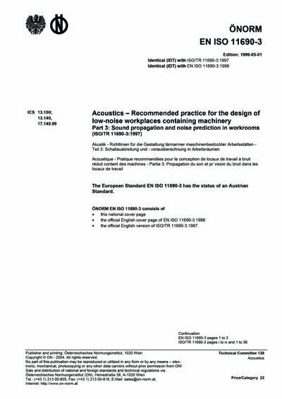 ONORM EN ISO 11690-3:1999