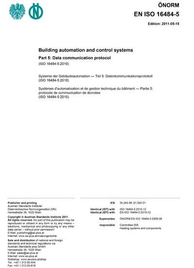 ONORM EN ISO 16484-5:2011