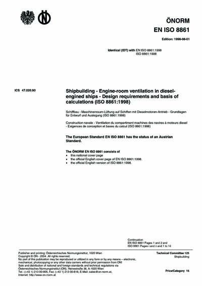 ONORM EN ISO 8861:1998