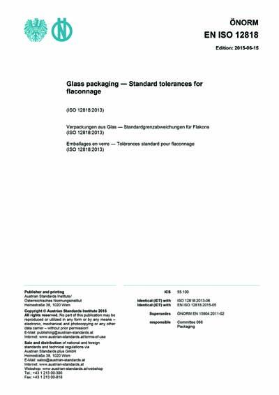 ONORM EN ISO 12818:2015