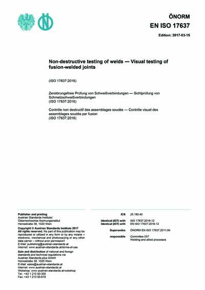 ONORM EN ISO 17637:2017