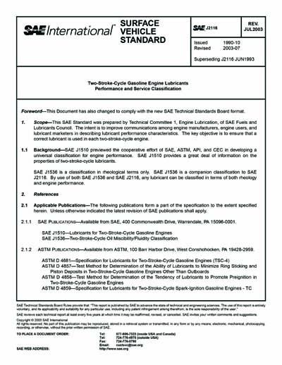 SAE J 2116-2003 (SAE J2116-2003)
