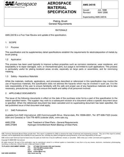 SAE AMS 2451B-2006 (SAE AMS2451B-2006)