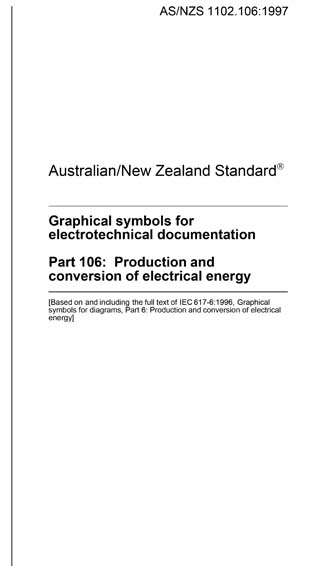 As Nzs 1102 106 1997 Graphical Symbols For Electrotechnical