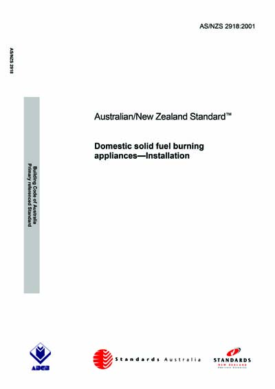 As Nzs 2918 2001 Domestic Solid Fuel Burning Appliances