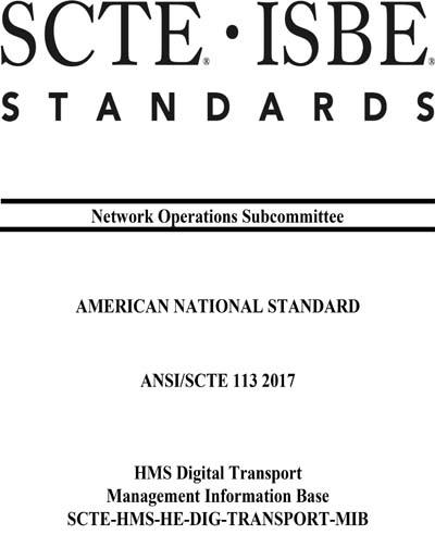 ANSI/SCTE 113 2017