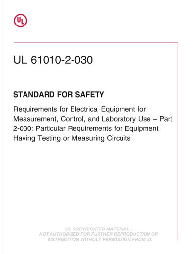 UL 61010-2-030 Ed  2-2018